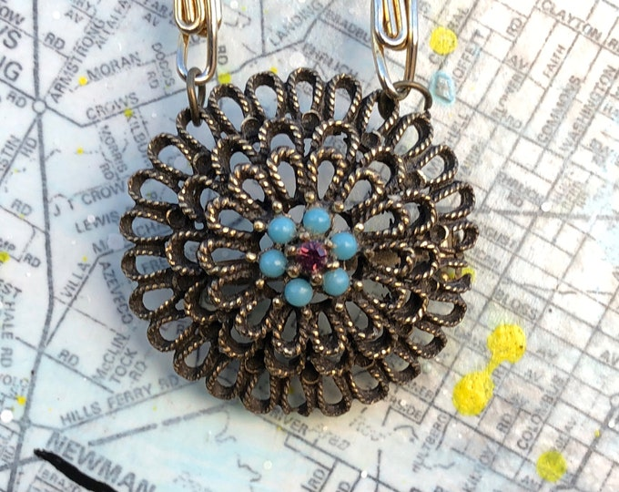 Vintage Pendant/Brooch Necklace