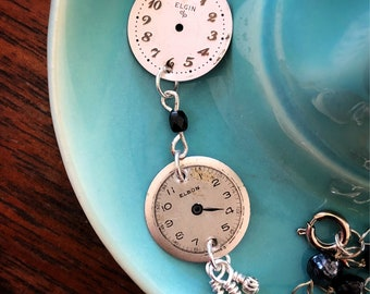 Vintage Watch Face Necklace - Elgin and Elbon