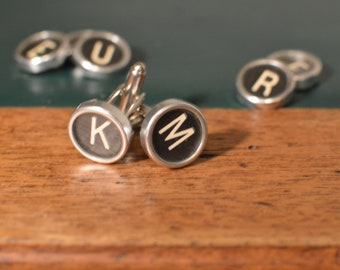 Personalized cufflinks - antique typewriter keys
