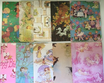 Vintage/Retro wrapping paper sheets