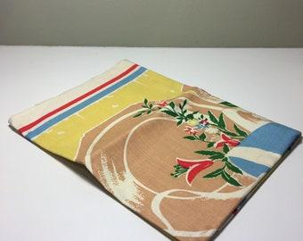 Vintage cotton tea towel