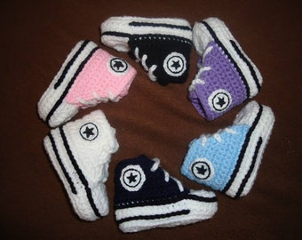 Crochet Baby Sneakers 0-3 Months 35a079684