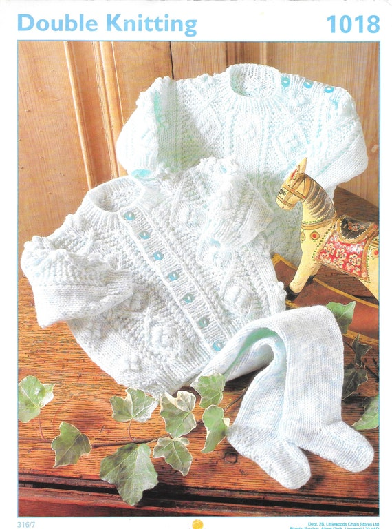 616 16-22/'/' DK Knitting Pattern for Baby Boys 6-piece Cable Layette