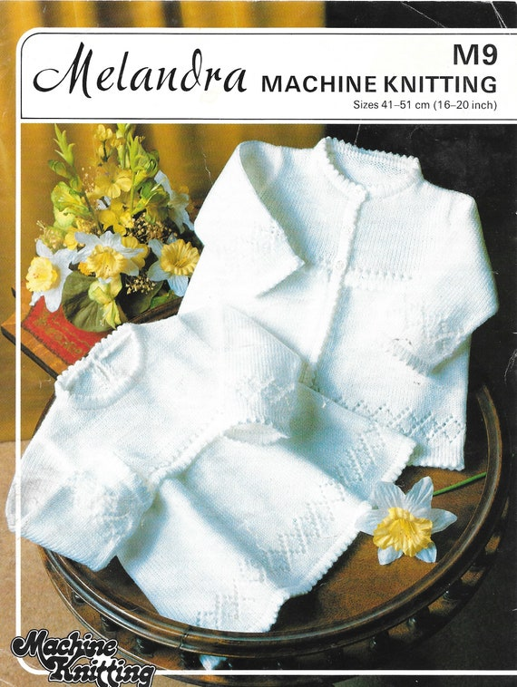 Pdf Knitting Pattern Machine Knitting 4 Ply Babies To Etsy