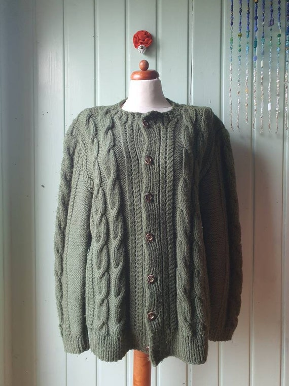 Thick,warm traditional cardigan,handmade