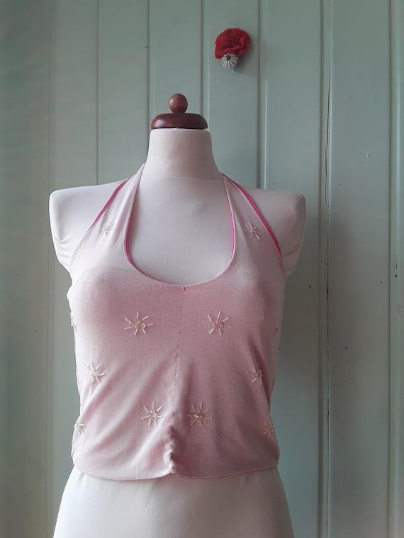 Delicate Halter,pink,Pailettes,Pastel,princess,