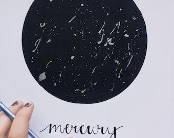Hand Embellished Mercury Print