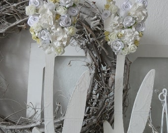 Autodeko Fensterdeko Hochzeit 1 x 2 Ringe Kirchenschleifen Kirchenbankschleifen