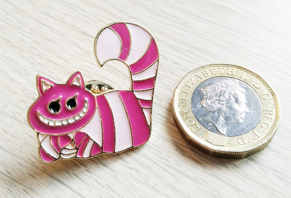 Alice in Wonderland metal and enamel Pin Badge Pins with Cheshire Cat