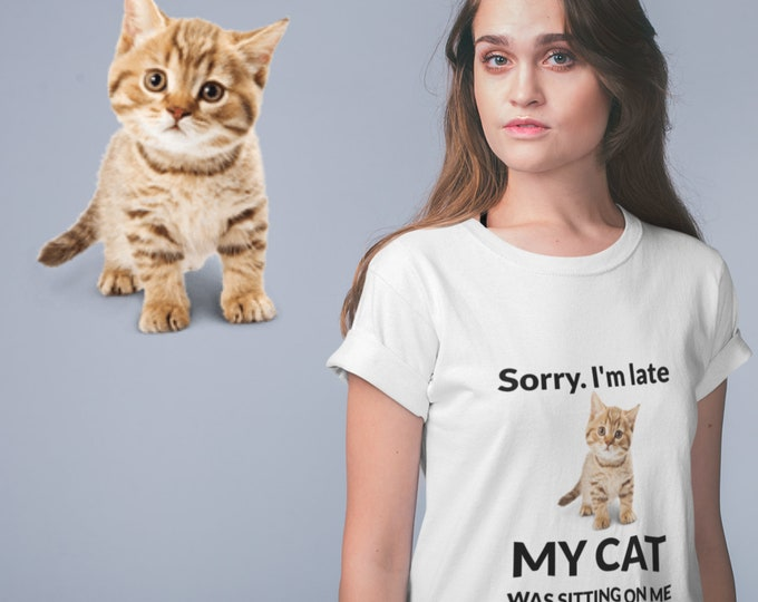 """Featured listing image: Custom T-Shirt - Send me a picture of your cat - Click on """"Details"""" below for more information!"""