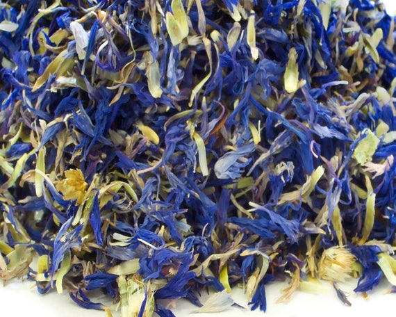 Herbal Tea Making Black Purple Dried Cornflower Petals Craft Soap Confetti
