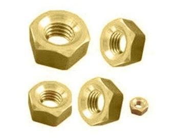 Clock Brass Hex Nut Assortment