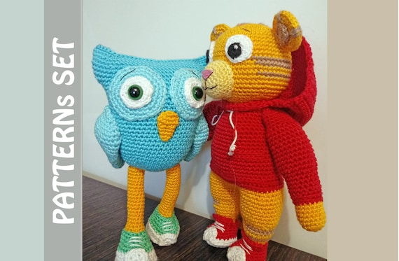 Daniel Tiger Amigurumi Pattern- Daniel Tiger Crochet Doll Pattern in  English in American Crochet Terms-DIY Crochet Pattern | Amigurumi pattern,  Crochet doll pattern, Diy crochet patterns | 373x570