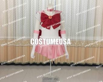 Kids Girls Sailor Chibiusa Rini Chibi Moon Dress Comic-con Cosplay Costume