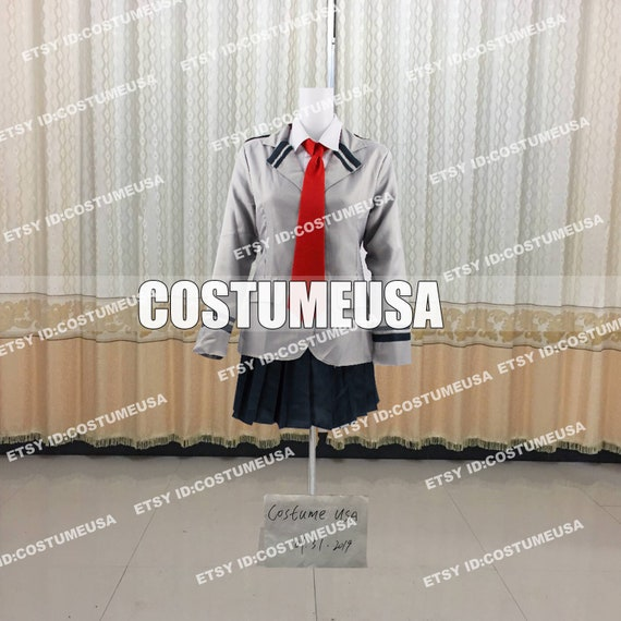 Custom Made Size My Hero Academia Boku No Hero Ochaco Uraraka School Cosplay Costume