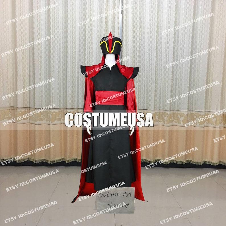 Custom made Size Aladdin And His Lamp Wizard Jafar Cosplay Costume