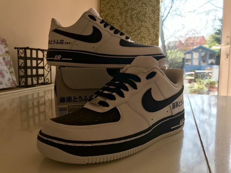 6ee277c78dbf Fujiwara tofu shop initial D custom Nike Air Force 1
