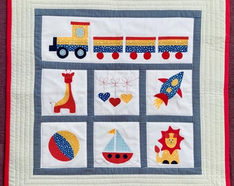 Baby Boy Cot Quilt or Playmat Pattern (pdf)