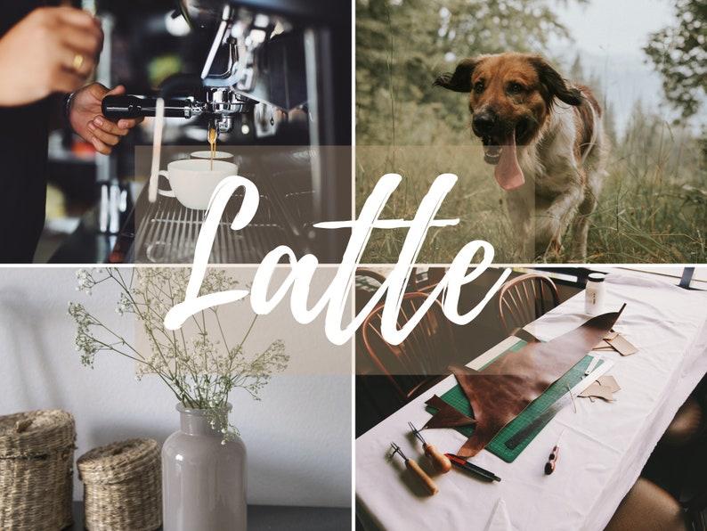 Five Lightroom MOBILE Presets  Latte image 0