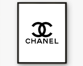 photograph about Printable Chanel Logo identified as Chanel printables Etsy