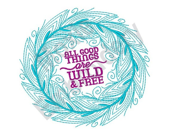 Wild And Free Machine Embroidery Design Embroidery Designs Etsy Unique Free Machine Embroidery Patterns To Download