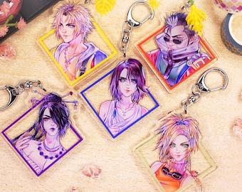 Acrylic Charm - Final Fantasy X - Tidus, Yuna, Rikku, Lulu, Auron