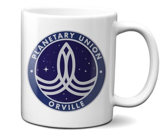 The Orville /'Planetary Union/' Genuine Leather Key Ring /& Free Decal