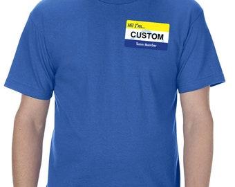 625b2dd4457ce Mens name tag shirt | Etsy