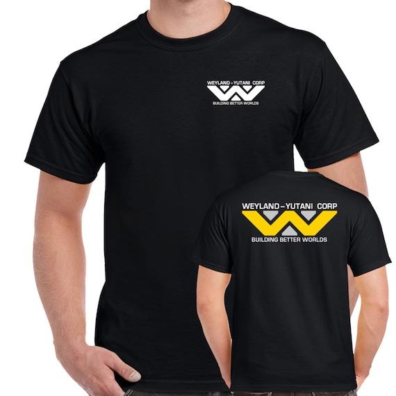 Weyland Yutani Corp Logo Distressed Adult T-Shirt