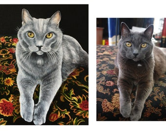 Cats, Custom Cat Portraits, Cat oil paintings, Cats in Clothes, Hipster animal art, Cats