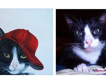 Cat paintings, Cat art, Custom cat art, Animal Commission paintings, Animal portraits, Memorial paintings