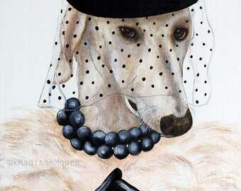 Dog print, Greyhound dog art print, Dogs in clothes, Hipster animal prints