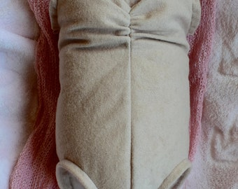 "Doe Suede Body for 19-21/"" Dolls Full Unjointed Arms Full Unjointed Legs #1272"