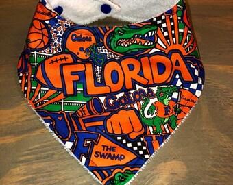 2ed39dab7 Customizable Drool Bib by Charley Roo, Baby Bandana Bib, Stylish Fashion  Bibdana, Baby Gator, UF, Florida, Gators, Albert, FL Gator Baby