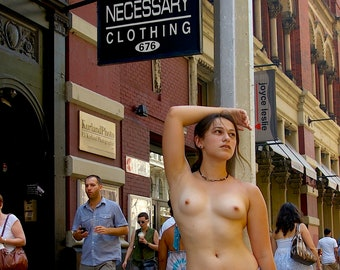 Necessary Clothing - Topless New York Greeting Cards (Pack of 10)