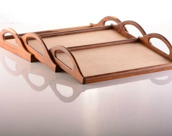 Serving Tray, Personalized Serving Tray, Wood Tray,  Tea Serving Tray