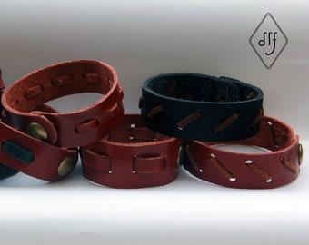 Designer leather bracelet