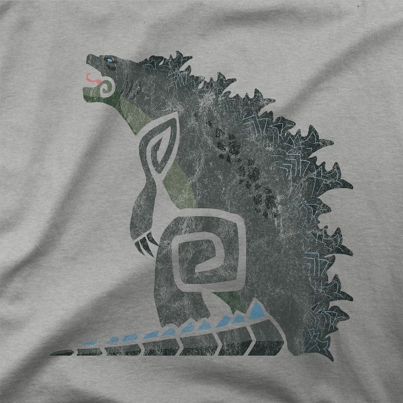 MHW X Godzilla Shirt | King of the Monsters Shirt | Monster Hunter Godzilla  Crossover Shirt | Retro Godzilla | Vintage Godzilla T-Shirt