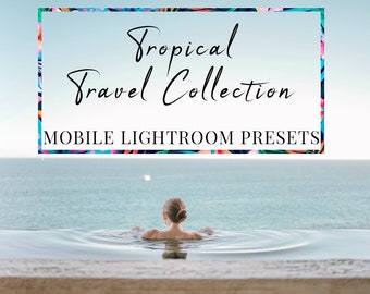 Tropische Lightroom Presets / mobiele Lightroom Presets / tropische Presets / Instagram filter