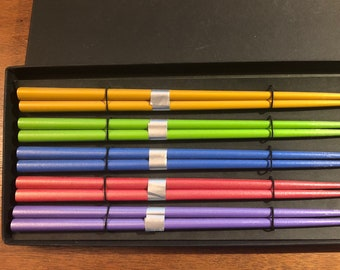 Rainbow colored Pride Chopstick set from Japan