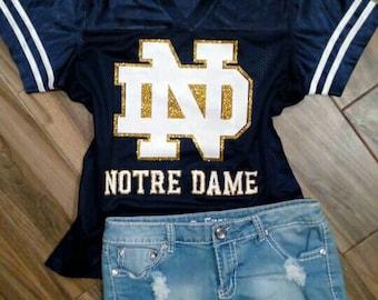Glitter Notre Dame Jersey   Notre Dame Glitter Shirt    Fighting Irish Tank     ND Jersey    Fighting Irish    Notre Dame Tank 77d1ff123