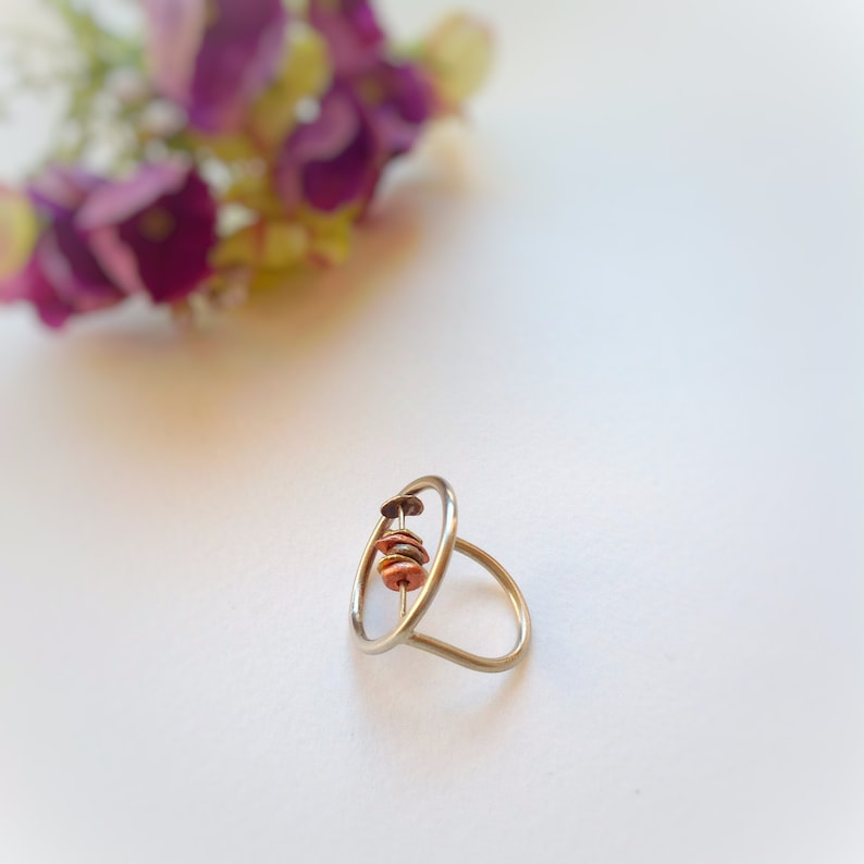 Modern ring Valentine\u2019s day. Women Gift Circle ring open circle ring Contemporary ring