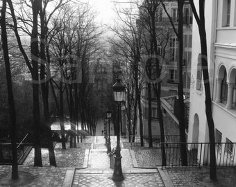 """Photographic Print on Fine Art Paper  - A4 - """"A rainy day in Paris""""  - (Other sizes and mounted prints available on request)"""