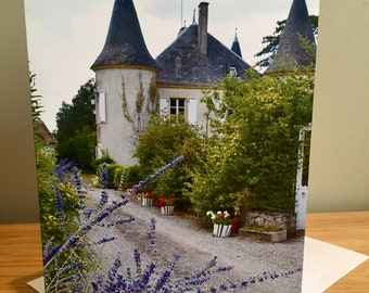 """Blank Greeting card from France """"Away from it all"""""""