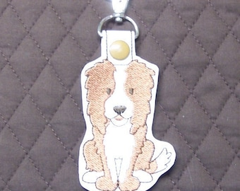 Border Collie Dog Snap Tab