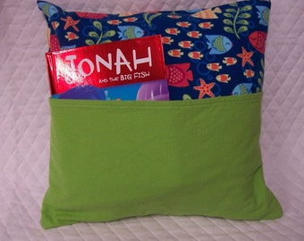 Ocean Fish Reading Book Pillow 14X14