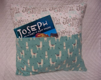 Lhama Reading Book Pillow 14X14