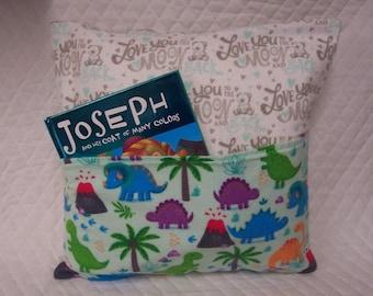 Dinasaur Reading Book Pillow 14X14