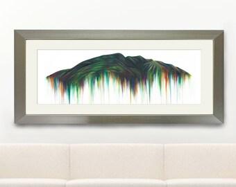 Cumbria Mountain Blencathra Abstract Art Print, Wildlife Art, Blencathra Mountain Landscape Vibrant Oil Painting, Giclée Art Print