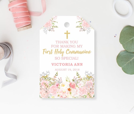 First Holy Communion Favor Tags Communion Favor Tag First